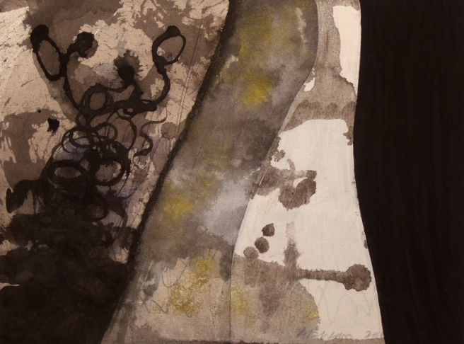 Jeu de lignes II, Gouache sur carton, 20,5 x 27,5 cm, 2009