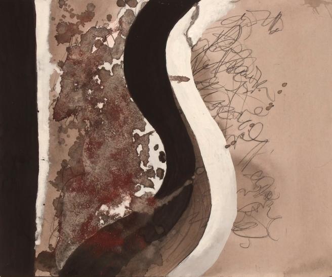Jeu de ligne III, Gouache sur carton, 21 x 25 cm, 2009