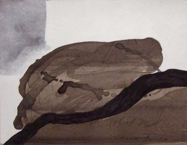 Jeu de lignes IV, Gouache sur carton, 22 x 29 cm, 2010